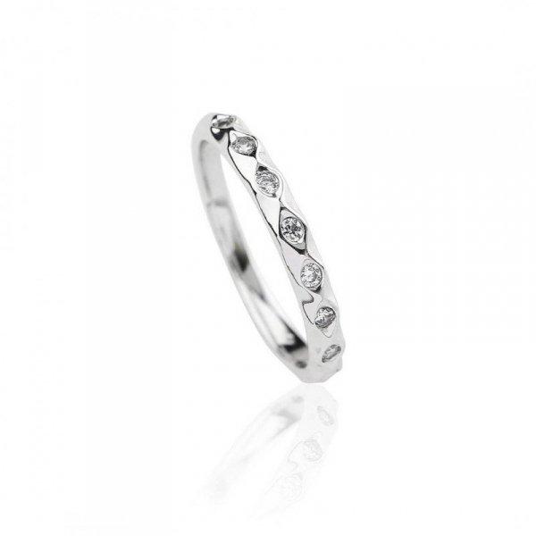 Pierścionek stal szlachetna rodowana PST624, Rozmiar pierścionków: US6 EU11