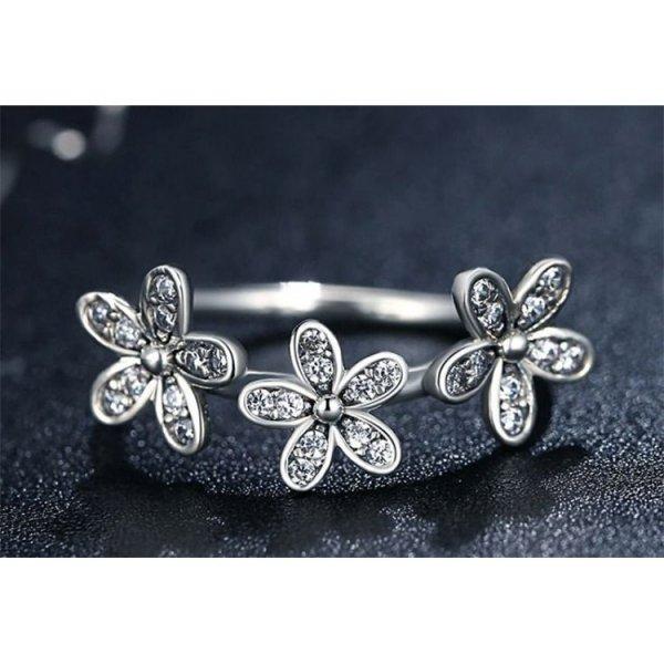 PIERŚCIONEK SREBRO925 SWEET FLOWERS PE17, Rozmiar pierścionków: US6 EU11