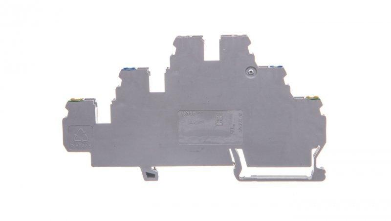 Złączka szynowa 3-pietrowa 2,5mm2 PE / N / L szara 870-567