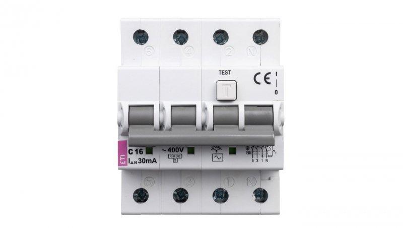 Wyłącznik różnicowo-nadprądowy 4P 16A C 0,03A typ AC KZS-4M 002174024