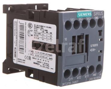 Stycznik mocy 9A 3P 24V AC 1Z 0R S00 3RT2016-1AB01