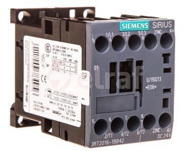 Stycznik mocy 9A 3P 24V DC 0Z 1R S00 3RT2016-1BB42