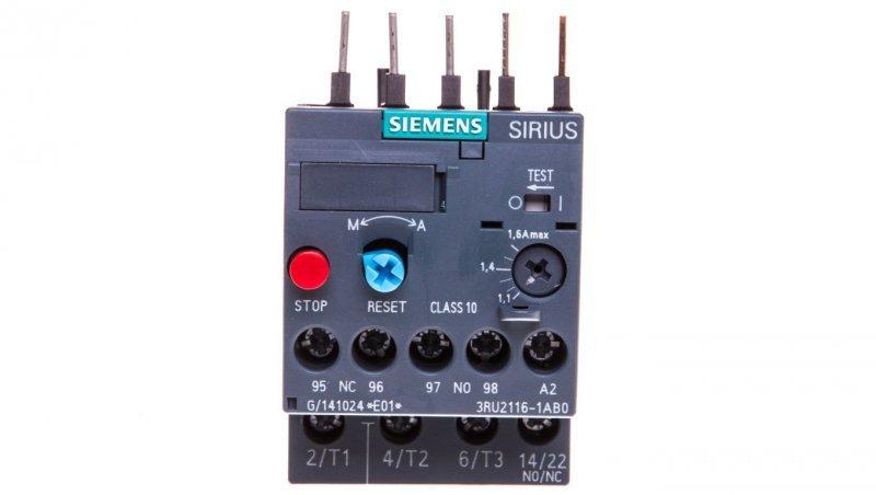 Przekaźnik termiczny 1,1-1,6A S00 3RU2116-1AB0