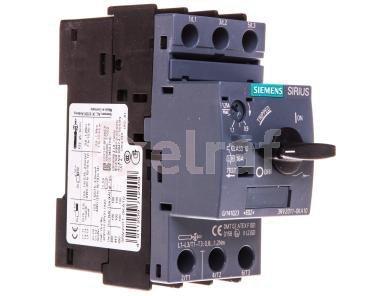 Wyłącznik silnikowy 3P 0,37kW 0,9-1,25A S00 3RV2011-0KA10