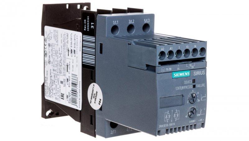 Softstart 3-fazowy 200-480VAC 17,6A 7,5kW/400V Uc=110-230V AC/DC S00 3RW3018-1BB14