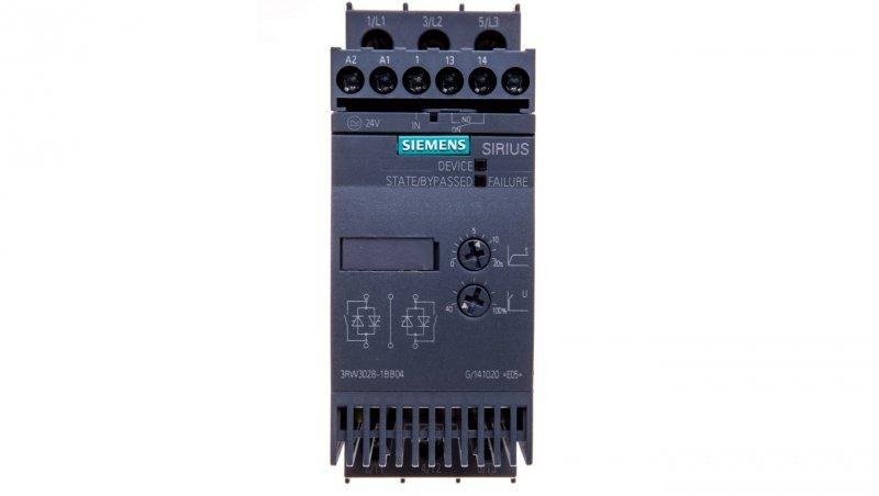Softstart 3-fazowy 200-480VAC 38A 18,5kW/400V Uc=24V AC/DC S0 3RW3028-1BB04