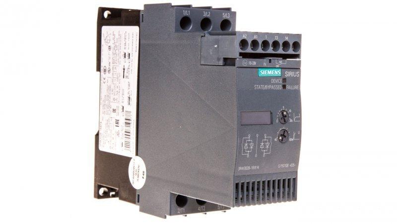 Softstart 3-fazowy 200-480VAC 38A 18,5kW/400V Uc=110-230V AC/DC S0 3RW3028-1BB14