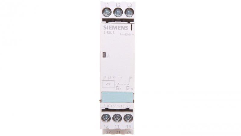 Przekaźnik kolejności faz 3A 2P 0,45sek 320-500V AC 3UG4511-1BP20