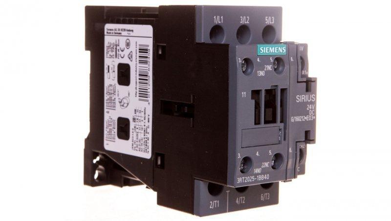 Stycznik mocy 17A 3P 24V DC 1Z 1R S0 3RT2025-1BB40