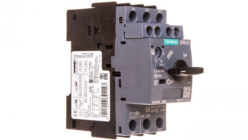 Wyłącznik silnikowy 3P 1,8-2,5A 1Z 1R S00 3RV2011-1CA15