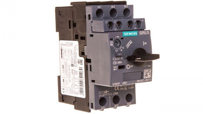 Wyłącznik silnikowy 3P 9kW 14-20A 1Z 1R S0 3RV2021-4BA15