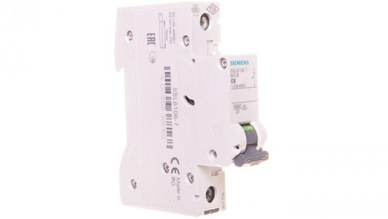 Wyłącznik nadprądowy 1P C 6A 6kA AC 5SL6106-7