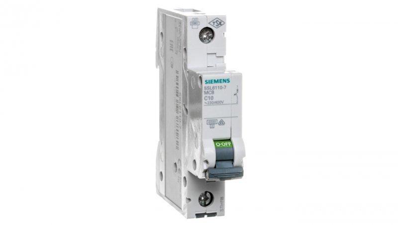 Wyłącznik nadprądowy 1P C 10A 6kA AC 5SL6110-7