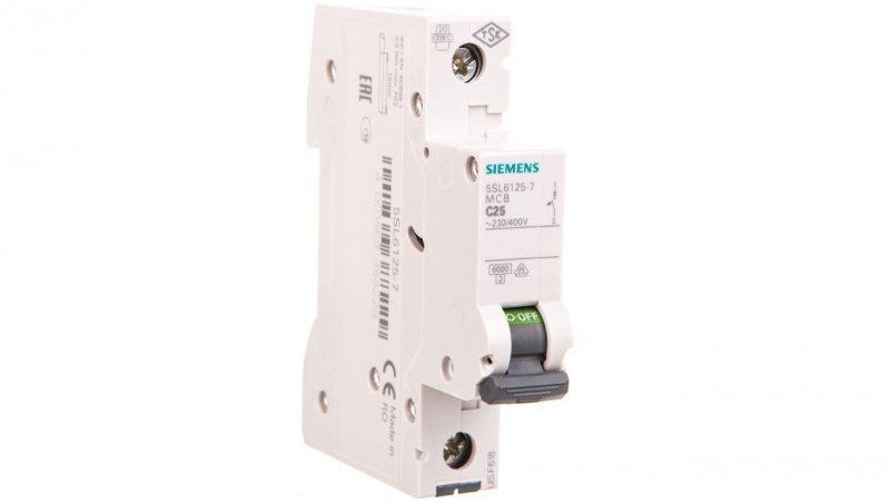 Wyłącznik nadprądowy 1P C 25A 6kA AC 5SL6125-7