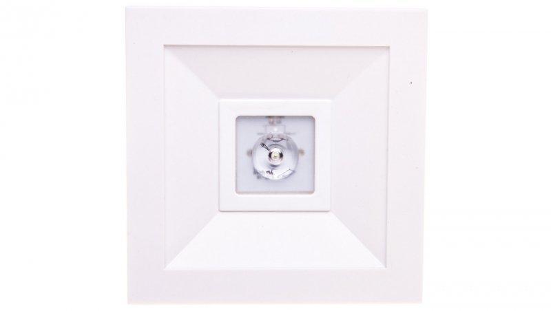 Oprawa awaryjna LED 1W 3h LOVATO N ECO LED 1W (opt. otwarta) jednozadaniowa biała LVNO/1W/E/3/SE/X/WH