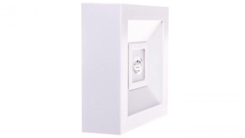 Oprawa awaryjna LED 3W 1h LOVATO N ECO LED 3W (opt. otwarta) jednozadaniowa biała LVNO/3W/E/1/SE/X/WH