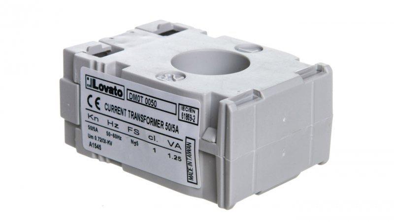 Przekładnik prądowy 50/5A 1,25VA fi 22mm DM0T0050