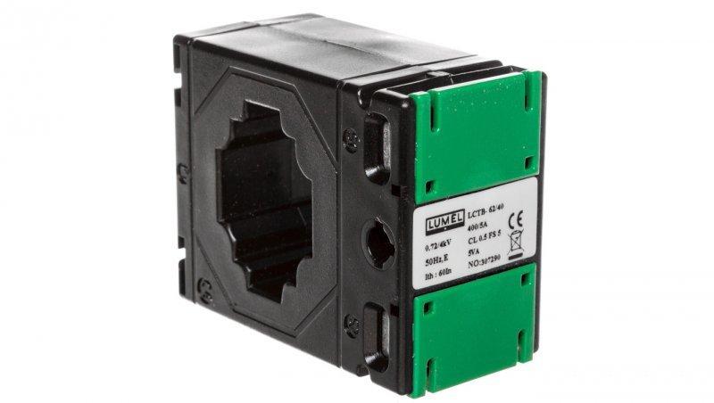 Przekładnik prądowy z otworem na szynę 62/40 (40) 400A/5A klasa 0,5 LCTB 6240400400A55
