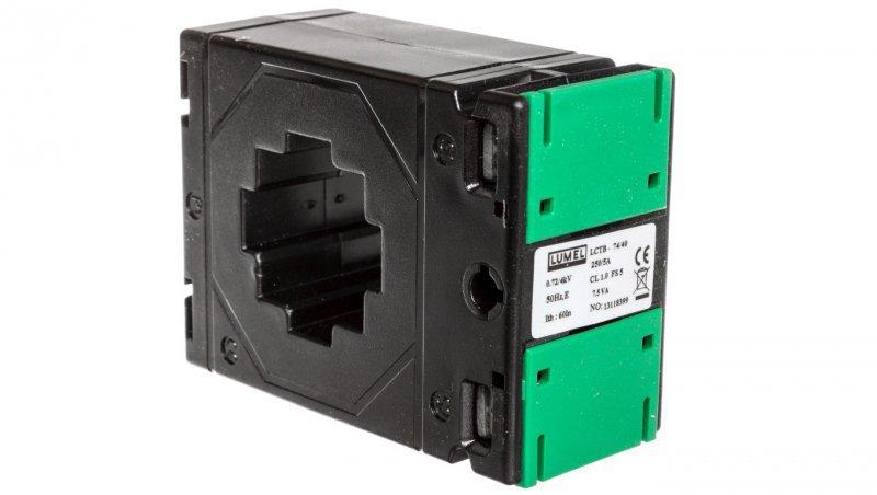 Przekładnik prądowy z otworem na szynę 74/40 (45) 250A/5A klasa 1 LCTB 7440450250A51