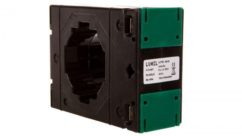 Przekładnik prądowy z otworem na szynę 86/60 (45) 1000A/5A klasa 1     LCTB 8660451000A51