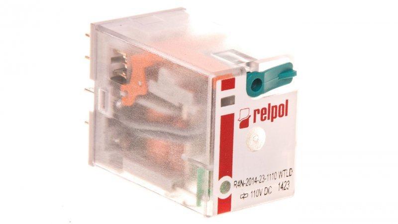 Przekaźnik przemysłowy 4P 110V DC AgNi R4N-2014-23-1110-WTLD