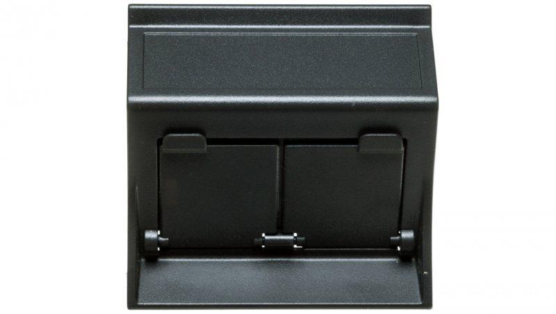 Simon Connect Płytka S500 2x RJ z osłonami skośna do adapterów MD szary grafit 50000086-038