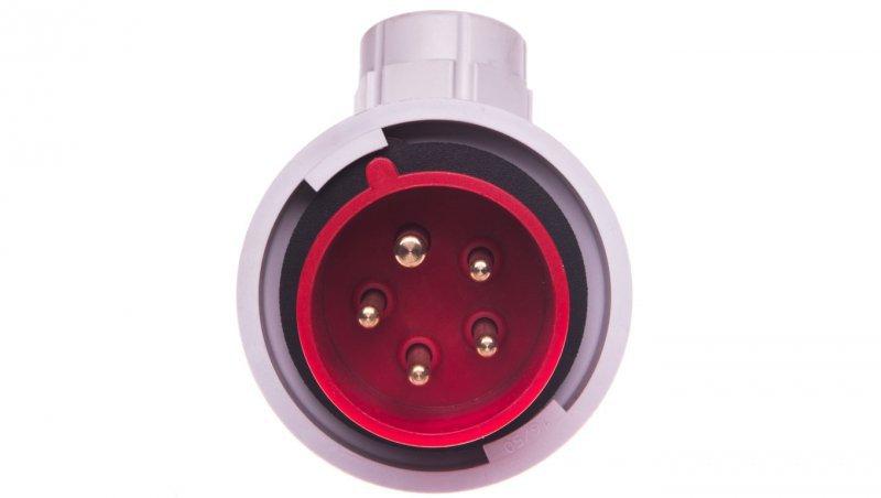 Wtyczka przenośna kątowa 16A 5P 400V czerwona IP67 TWIST 80152-6