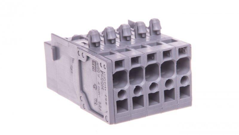 Wtyk sprężynowy 1-przewodowy X-COM 5-torowy szary 769-605/001-000 /50szt./