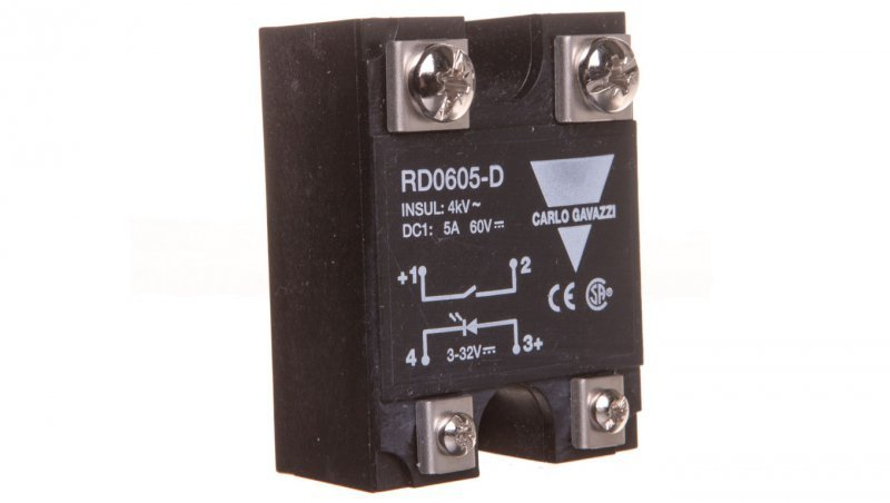 Przekaźnik półprzewodnikowy 1P 5A 60V DC wej. 3-32V DC RD0605-D 2602568