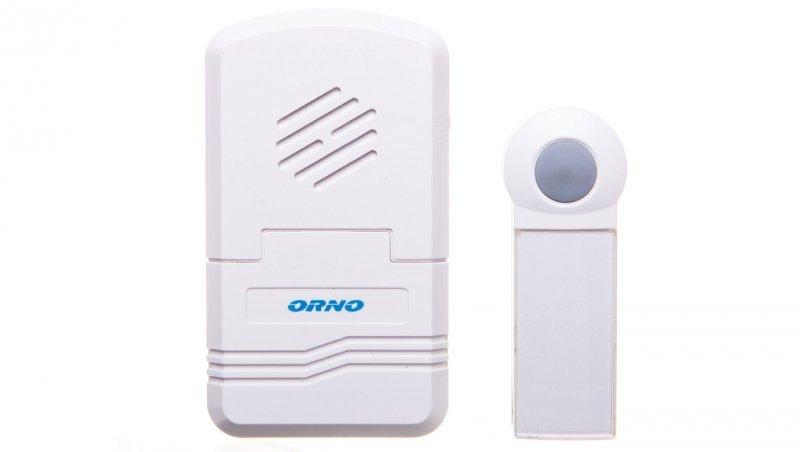 Dzwonek bezprzewodowy DISCO DC, bateryjny z learning system, biały OR-DB-KH-122