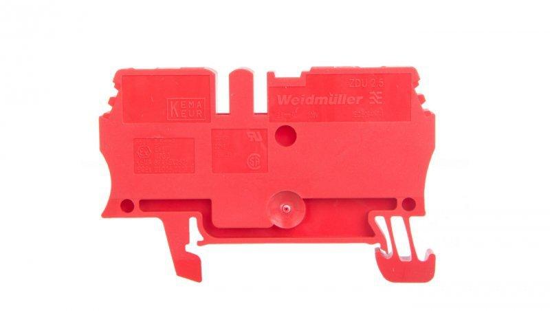 Złączka szynowa przelotowa 2-przewodowa 2,5mm2 czerwona ATEX ZDU 2.5 RT 1683260000