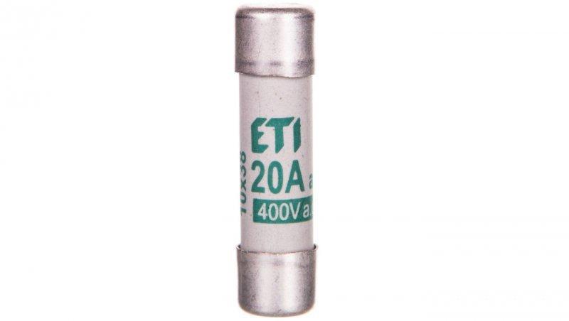 Wkładka bezpiecznikowa cylindryczna 10x38 20A aM 400V CH10 002621011