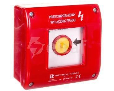 Przycisk ppoż. natynkowy samoczynny 1Z 1R czerwony PWP1-W01-A-11-230