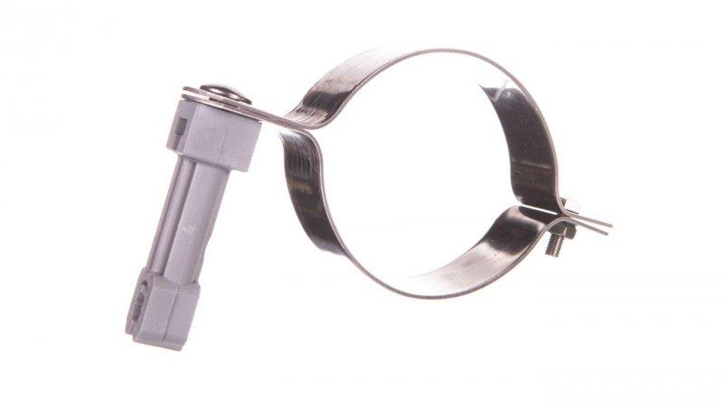 Uchwyt do rury spustowej fi 80mm nierdzewny z plastikiem 64.08/P NI /96420805/