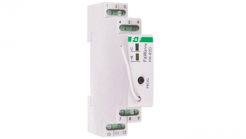 Radiowy podwójny przekaźnik bistabilny - montaż DIN 85-265V AC/DC FW-R2D