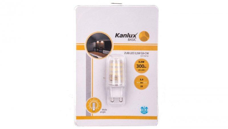 Żarówka LED ZUBI LED 3,5W G9-CW 6000K 300lm 24521