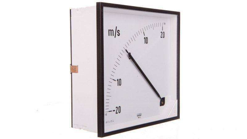 Miernik 144x144mm N IP50 B606, zakr.pom.10-0-10V 0, podz.zgodna z zakresem 0, podz. biała ocyfr. MA12N B60600000005
