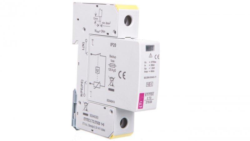 Ogranicznik przepięć C Typ 2 1P 20kA ETITEC C T2 275/20 1+0 002440393