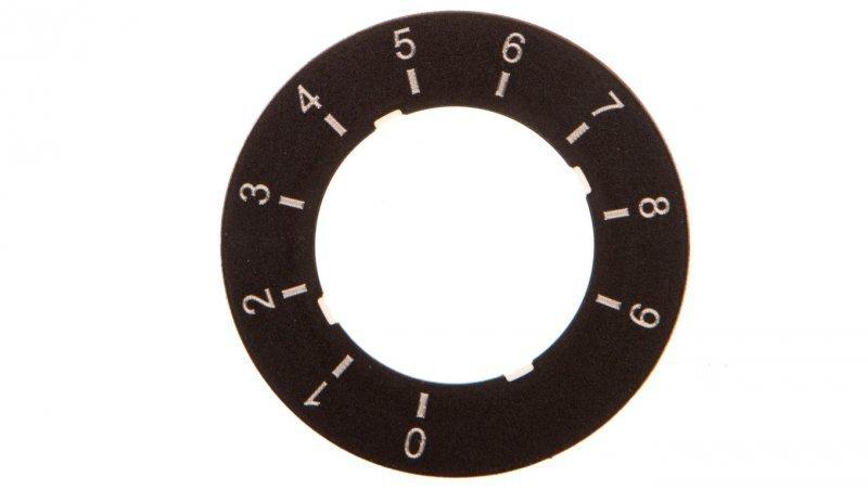 SIRIUS ACT Etykieta do potencjometru 0 do 9 3SU1900-0BG16-0RT0
