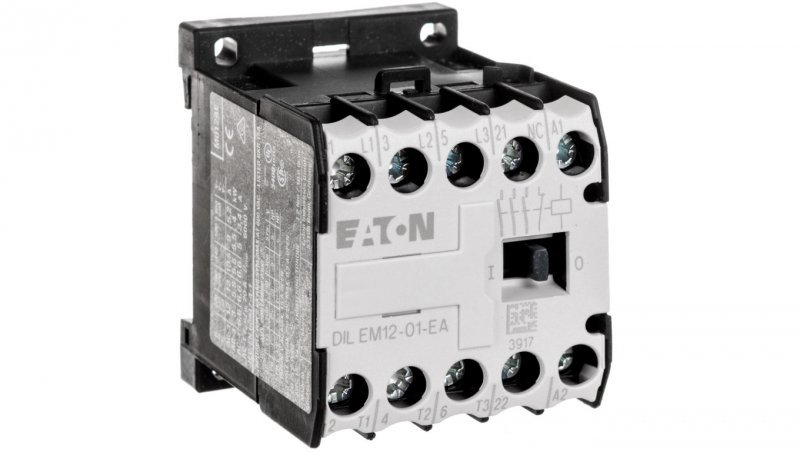 Stycznik mocy 12A 3P 230V AC 0Z 1R DILEM12-01-EA(230V50HZ,240V60HZ) 189989
