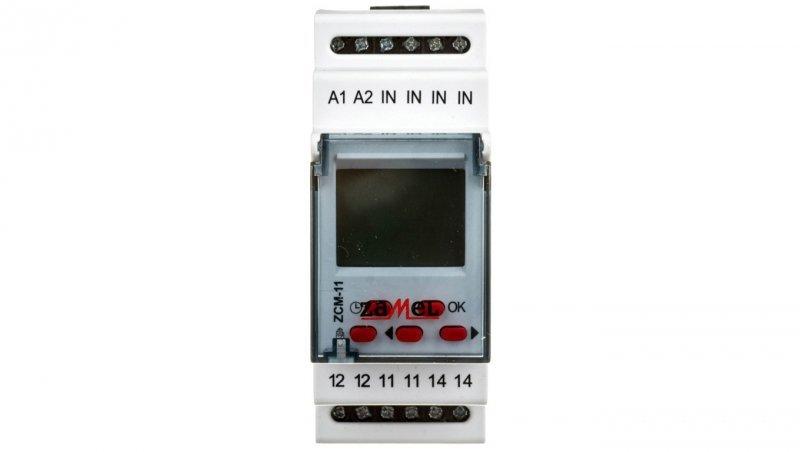 Programator czasowy cyfrowy 16A tygodniowy jednokanałowy ZCM-11 EXT10000150