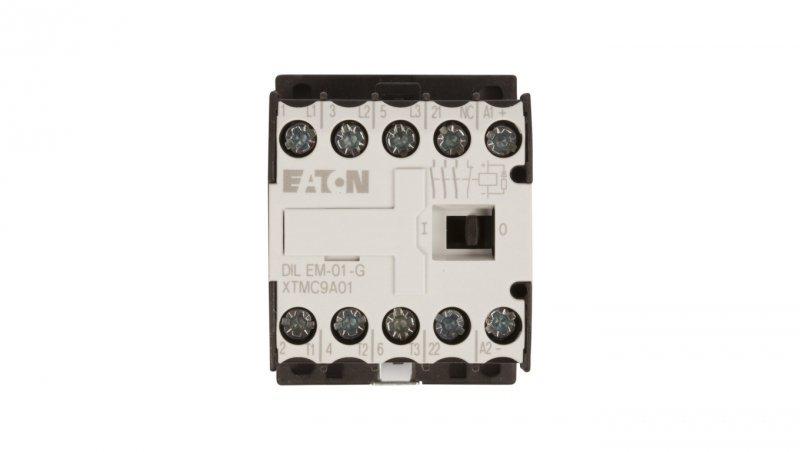 Stycznik mocy 9A 3P 24V DC 0Z 1R DILEM-01-G(24VDC) 010343