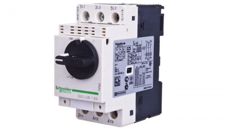 Wyłącznik silnikowy 3P 0,55kW 1-1,6A GV2L06