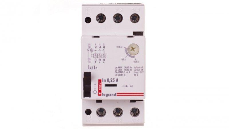 Wyłącznik silnikowy 3P 0,06kW 0,16-0,25A M250 1Z/1R 0,25 606821