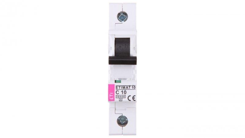 Wyłącznik nadprądowy 1P C 10A 10kA AC ETIMAT10 002131714