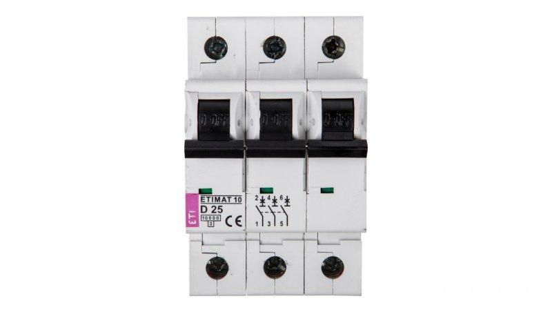 Wyłącznik nadprądowy 3P D 25A 10kA AC ETIMAT10 002155718
