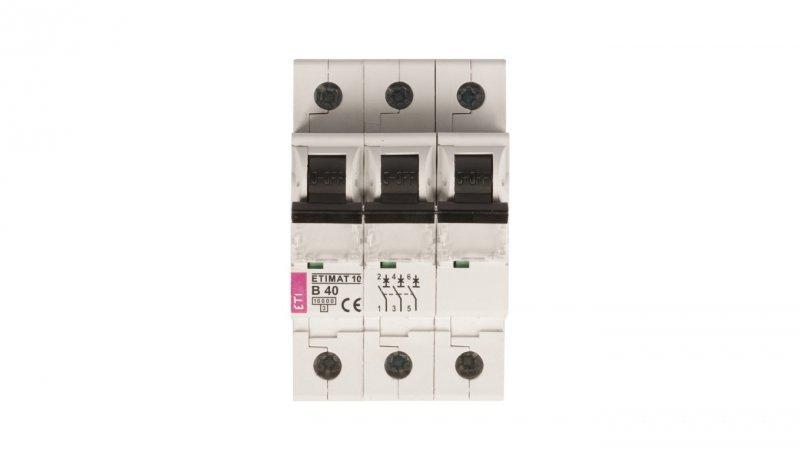 Wyłącznik nadprądowy 3P B 40A 10kA AC ETIMAT10 002125720