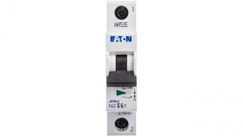 Wyłącznik nadprądowy 1P S 6A 15kA AC FAZ S6/1 278610