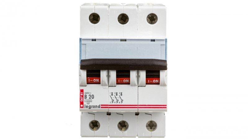 Wyłącznik nadprądowy 3P B 20A 10kA AC S313 TX3 404127