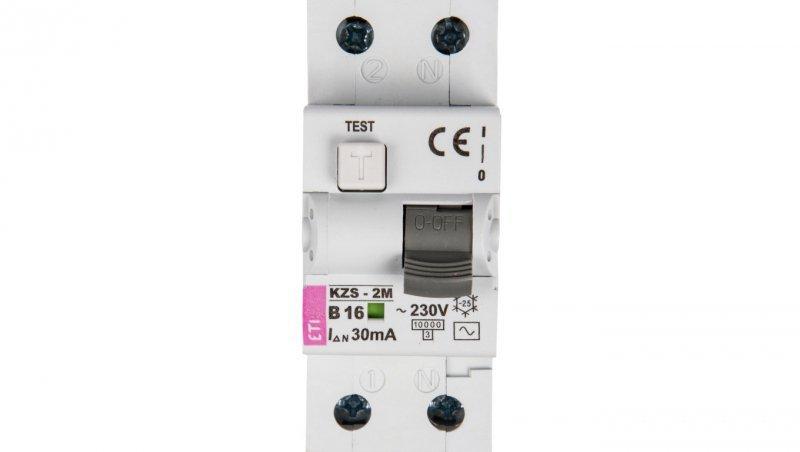 Wyłącznik różnicowo-nadprądowy 2P 16A B 0,03A typ AC KZS-2M 002173104